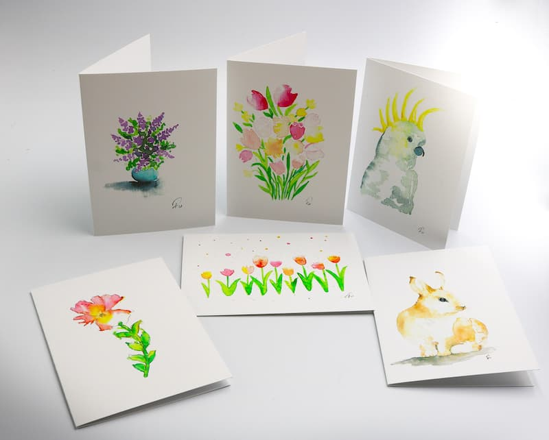Cockatoo greeting cards collection