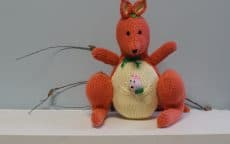 Kangaroo knitted toy